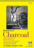 Strathmore 300 Series Charcoal Pad, White, 9'x12' Wire Bound, 32 Sheets