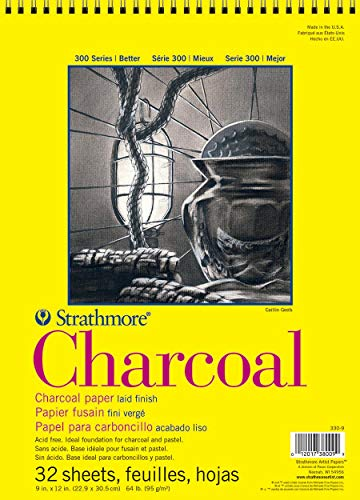 "Strathmore 300 Series Charcoal Pad, White, 9""x12"