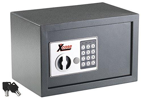Xcase Geldtresor: Stahlsafe mit digitalem Schloss, 12 Liter (Wandtresor)