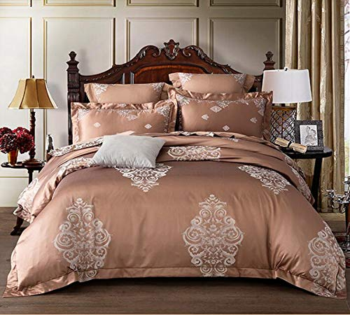 Buy HUROohj Satin Jacquard,The New Bedding Four Sets,European Style£¬Bedding Kits£¨ 4 Pcs£for B...