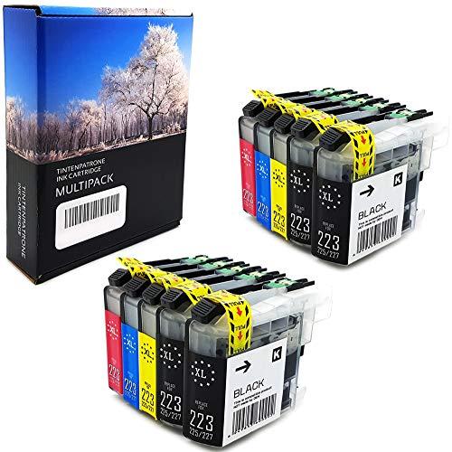 10 XL Office Channel24 Kompatibel Patronen mit Chip für Brother LC223xl LC225xl LC221 LC227 XL Patronen für Brother MFC J5320DW DCP J562DW MFC J480DW J680DW J5620DW J880DW J5720DW J5625DW J4625DW J4620DW J4120DW J4420DW