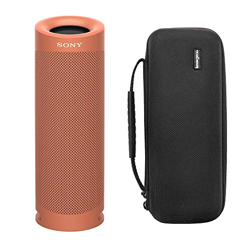 Sony SRS-XB23/C Extra BASS Bluetooth Wireless Portable Speaker (Coral Red) with Knox Gear Hardshell Travel & Protective Case Bundle (2 Items)