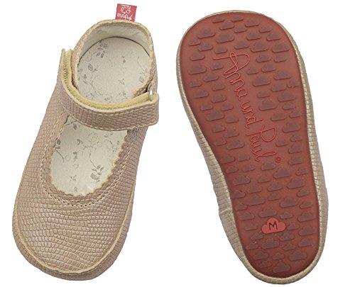 Anna und Paul Krabbelschuhe Lauflernschuhe Sandale mit Wölckchen Gummisohle Sisal - Beige (L - 22 - ca. 14.1 cm - 16-22 Monate)