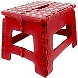Promobo-Marche pie-Taburete plegable plegable máx. 150 kg, color rojo