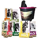 Happy Horse Pferdelecklie Box 7 x 1 kg + GRATIS Aufbewahrungsbox. Die Leckerlies mit KANNE Fermentgetreide und toller Abwechslung.