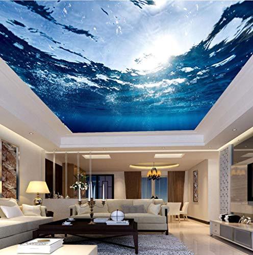 Huatulai Fotobehang, groot plafond, muurbehang, blauw zeewater, natuur, woonkamer, hotel, plafond 250*175cm/W*h