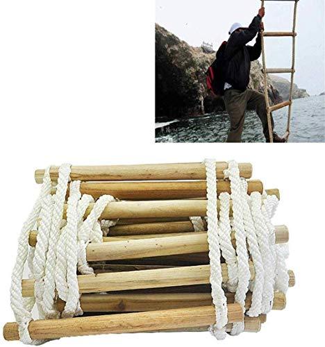 DROMEZ Escalera de Emergencia con Cuerda contra Incendios, Seguridad Reutilizable Resistente a Las Llamas Escalera para Casas de 2 a 7 Pisos Fácil de Usar para niños y Adultos Escape (tamaño: 12 m