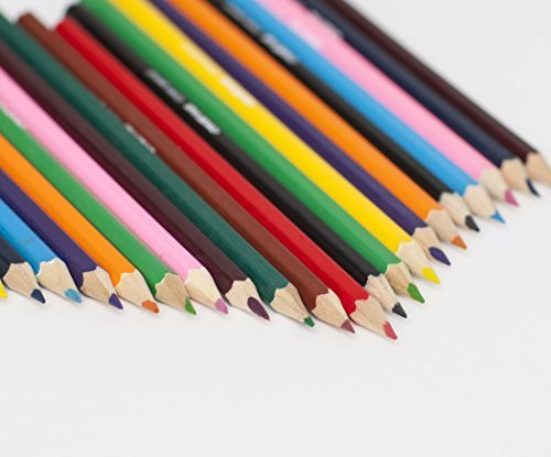 38 piece Complete Artist Pencil Set - Colored (12), Watercolor (12), Drawing Sketching (8), Graphite Sticks (4) - FREE Sharpener and Eraser - Reusable packaging to store products - Great art supplies