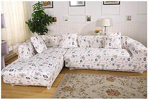 Allenger Cover L-Shape Corner Sofa,Elastische rutschfeste Sofabezug, Ganzjahres-Universal-Sofakissenbezug, Möbel-Antifouling-Schutzhülle - Farbe 3_145-185 cm