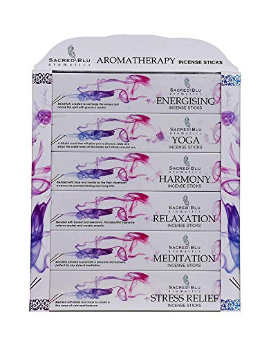 Paquete de mezcla de varillas de incienso para aromaterapia, de GJ Boon, 6 diferentes fragancias,...