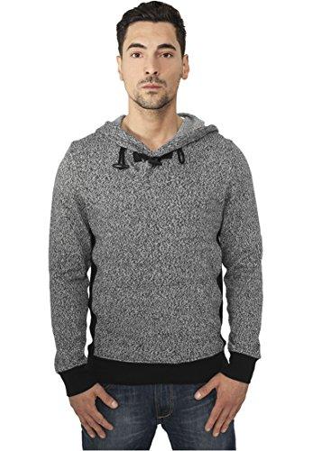 Urban Classics - Sweat-Shirt à Capuche - À Capuche - Manches Longues - Homme Noir/Gris S - Noir - Large