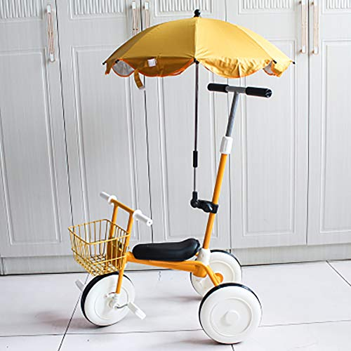 SHARESUN Kids driewieler met paraplu, kinderen rijden op Trike met mandje en ouders stuur, 3 wiel fiets voor peuter kind Trike peuter driewielers balansfiets voor 2-5 jaar oud