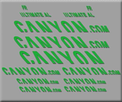 Ecoshirt RA-I687-E8DA sticker Canyon Ultimate R291 vinyl sticker Decal Decal Sticker MTB fiets groen