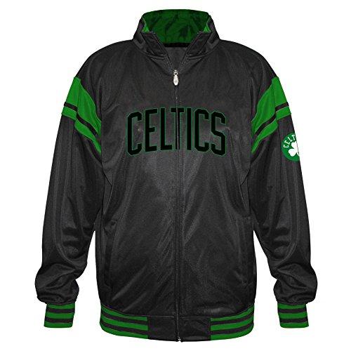 Profile Big & Tall NBA Boston Celtics Tricot Track Arm Piece, Black/Kelly, 4X image