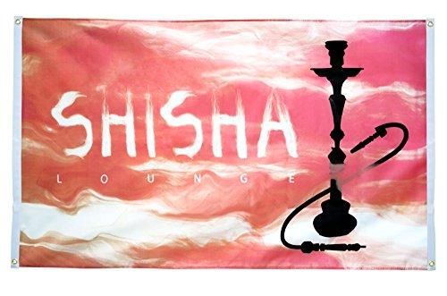 Flaggenfritze–Bandera de balcón Bandera Shisha Lounge–90x 150cm
