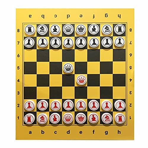 Nuevo chessex Juego De Ajedrez Magnético con Pegatinas Magnéticas De Ajedrez Y Piezas De Ajedrez Magnético Fuerte Grande Juego De Juegos Regalo de ajedrez (Color : Magnetic Stickers Set)