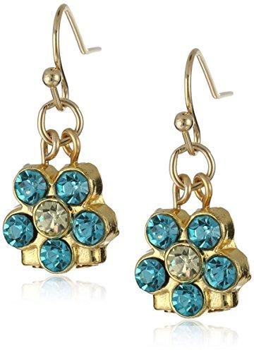 1928 Jewelry Petite Flower Drop Earrings