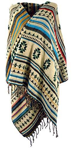 Guru-Shop Guru-Shop Weicher Pashmina Schal/Stola, Schultertuch, Herren/Damen, Maya Muster Tannengrün, Synthetisch, Size:One Size, 200x60 cm, Schals Alternative Bekleidung