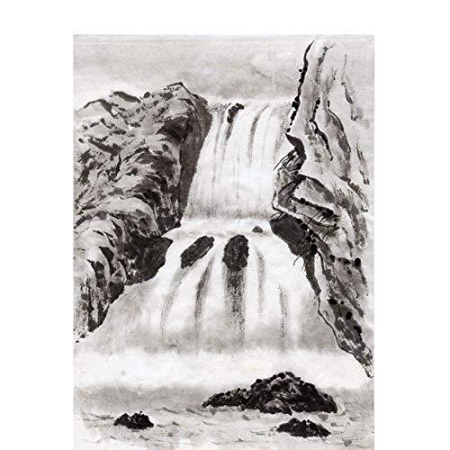 Handgemalte Tintenkunst-Design-Tapete im chinesischen Stil