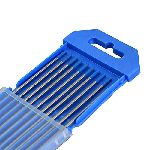 "2.0% Lanthanated WL20 cielo azul de soldadura TIG electrodos tungsteno (2,0mm x 175mm & 5/64""x7"", 10pk)"