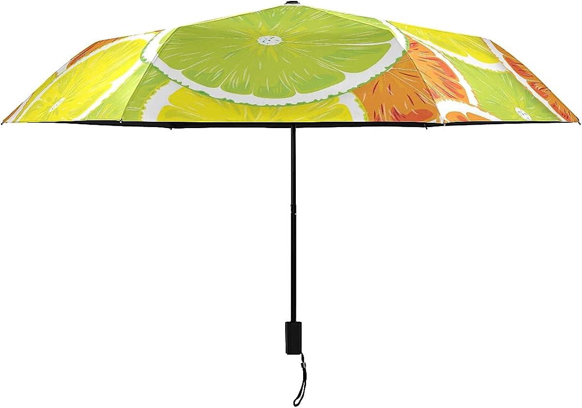 Outdoor Umbrellas Regular dealer Orange Lemon Seamless Umbrella For Wome Tucson Mall Summer