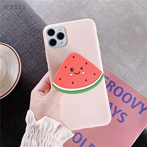Glqwe Phone case, 3D Luxury cute cartoon fruit avocado Soft silicone for iphone X XR XS 11 Pro Max 7 8 S plus Holder cover gift (Color : G, Material : For iphone XR)