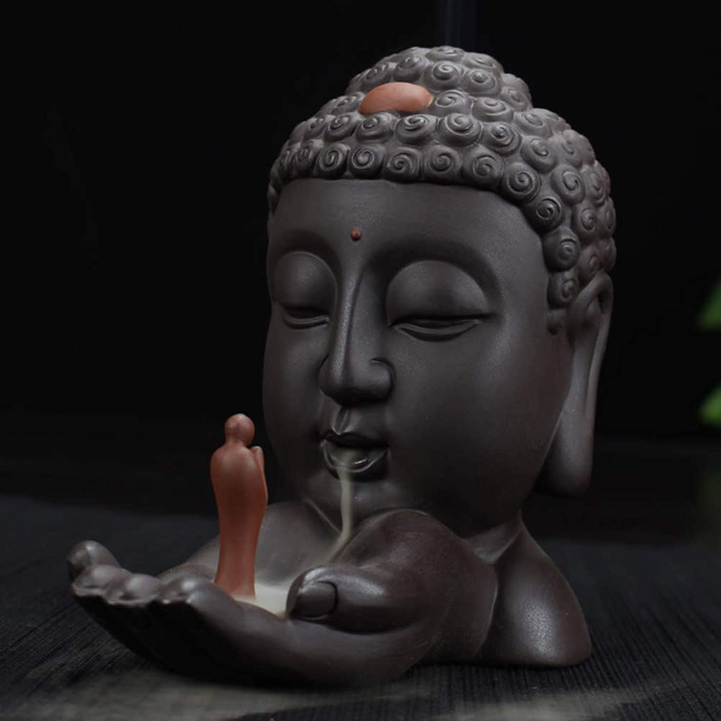 申し立てる貼り直す協定逆流香バーナークリエイティブホームインテリアセラミック仏香ホルダー仏教香炉