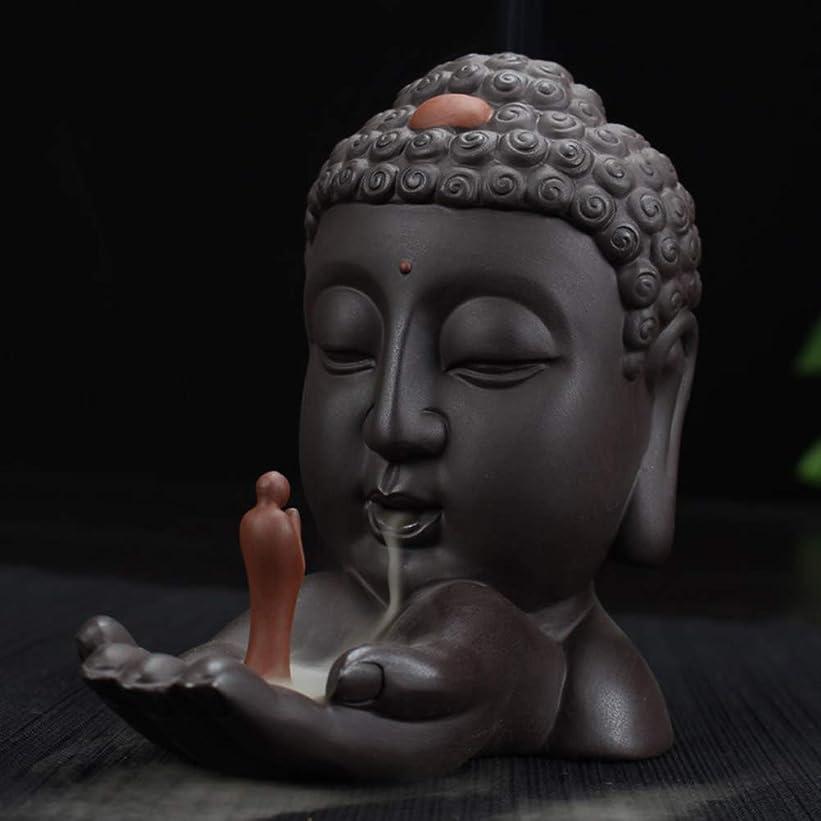 ルアー自動車想定する逆流香バーナークリエイティブホームインテリアセラミック仏香ホルダー仏教香炉