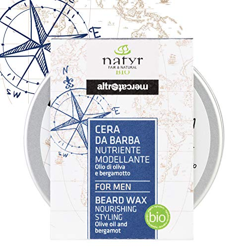 Natyr For Men Organic beard care wax with argan oil and beeswax Bartwachs for care and styling Natyr - Fair Trade natural cosmetics from Italy 50ml