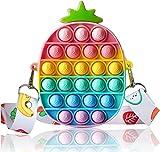 Pop Push it Fidget Toy - Push Pop Antiestres Niños - Pop Bubble Fidget Juguetes Antiestres - Sensorial Herramientas para Aliviar el Estrés y la Ansiedad para Niños y Adultos I Almeja (Piña)