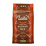 Laila Sella Basmati Rice 5 Kg - 100 % Gluten Free - Basmati Rice with Aroma Fragrant - Golden Sella Basmati Rice