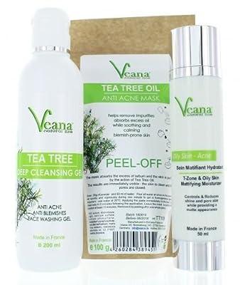 Anti Acne Face Wash + Matifying Moisturizer + peel off Mask from Veana