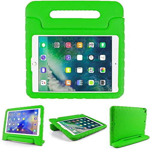 Kids Friendly Case for Samsung Galaxy Tab A 10.1 with S-Pen(P585/P582), Light-weight EVA Soft Foam Durable Rugged Shockproof Kidsproof Foldable Convertible Handle Kickstand Cover for Teenages - Green