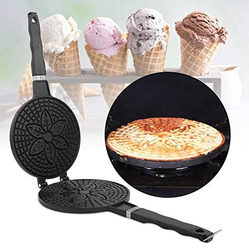 Kadimendium Premium Egg Roll Pan Helado Crepe Maker Pan para Hornear para Waffle Cone para Cocina de panadería