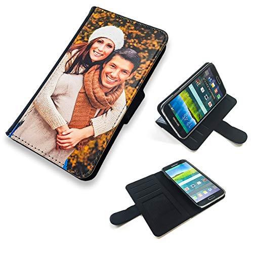 PixiPrints Premium Flipcase mit eigenem Foto kompatibel mit Samsung Galaxy A51 * Etui mit eigenem Foto und Text * Flip Tasche Handy Book Schutzhülle
