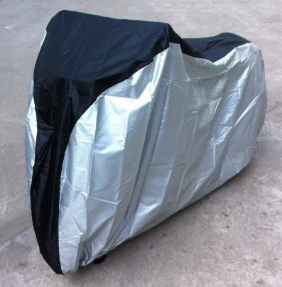 BlueMart Silver & Black 190T Nylon Waterproof Bike/Bicycle Cover (Size: XL)