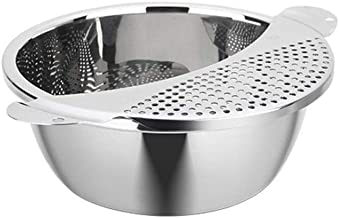 304 Stainless Steel Basin Drain Net Set, Washing Vegetables And Fruits, Rice Washing Artifact, 26CM Dish Leak Net (Size : ...