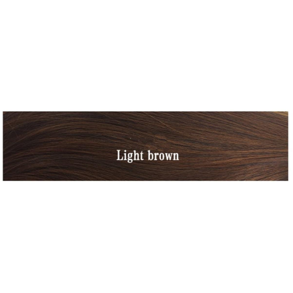 お嬢優れた誰のBOBIDYEE 女性用合成高温かつら前髪ロングヘアストレートヘッドかつら黒人女性用28インチ(ブラック/ダークブラウン/ライトブラウン)合成髪型かつらロールプレイングウィッグ (色 : 淡い茶色)