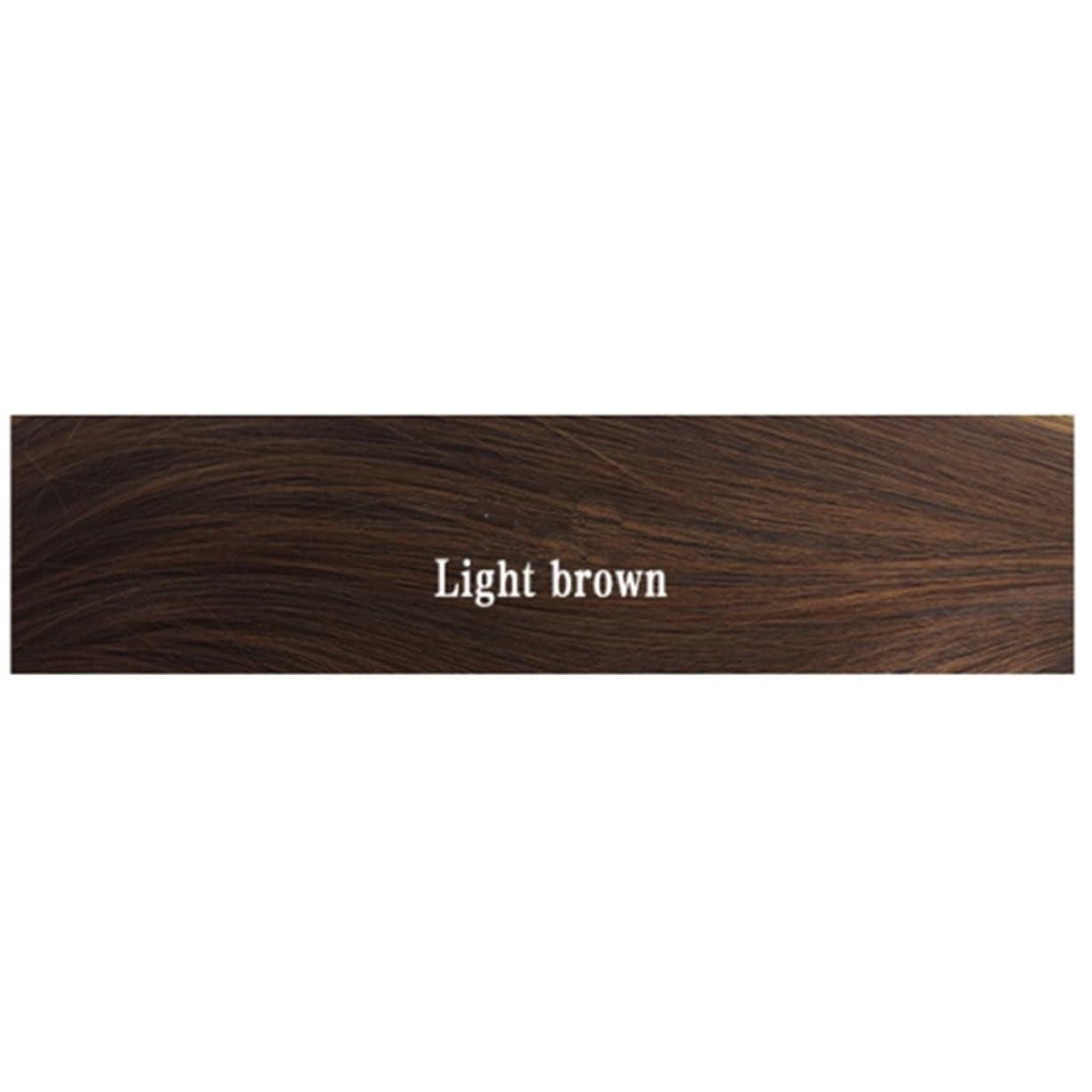 小さな各静かなDoyvanntgo 女性のためのロングストレートウィッグミディアムヘアと調節可能なウィッグ自然な魅力的な女性ウィッグ220g(ブラック、ダークブラウン、ライトブラウン、おばあちゃん、ベージュ、ライトピンク) (Color : Light brown)