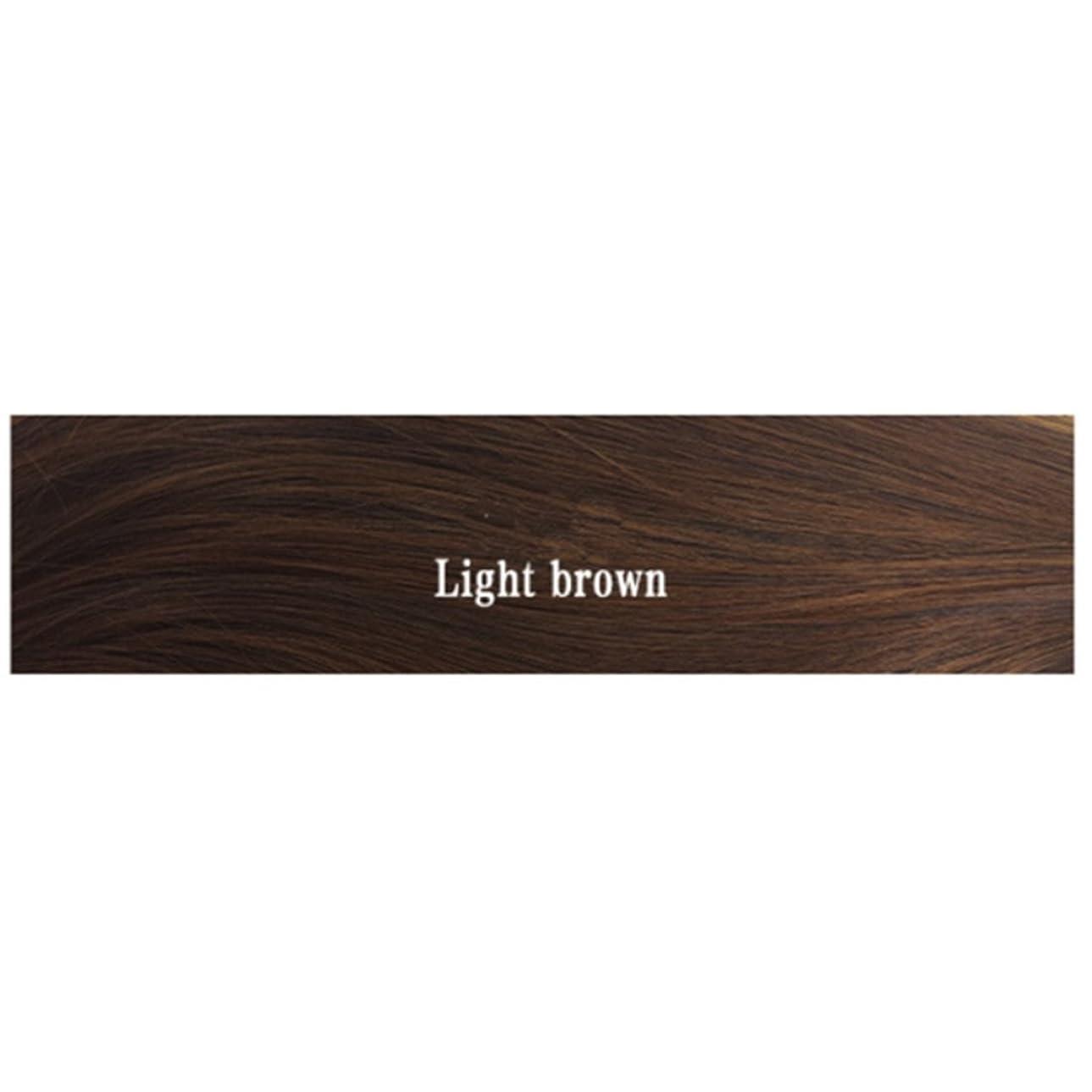 カナダ聖なる体系的にKoloeplf ウィメンズ ウィッグ、エアー フラット 付き マイクロボリューム ストレート バックル ヘアー シンバス 耐熱 ウィッグ 長さ65cm (Color : Light brown)