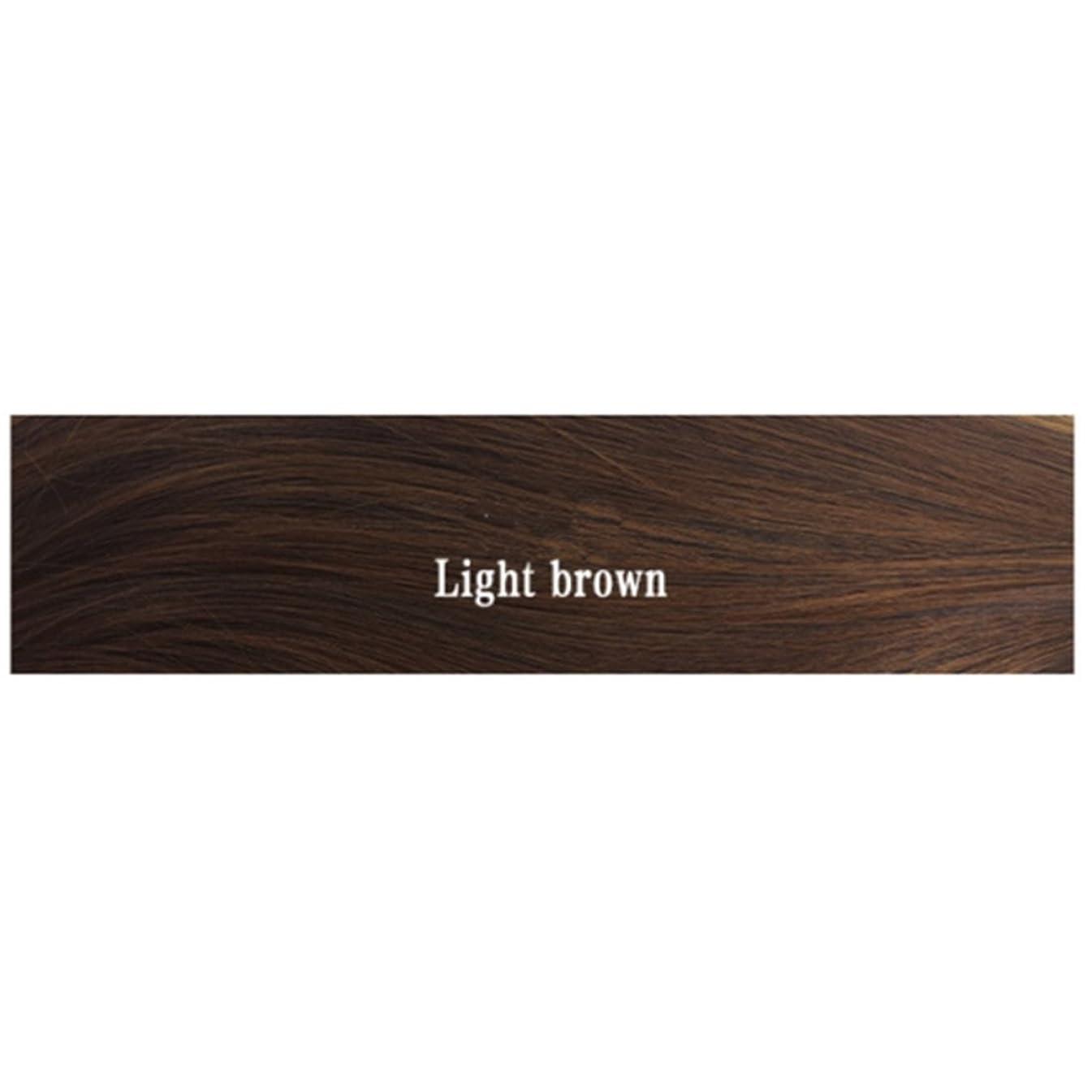 であることおもちゃ懐疑的Koloeplf ウィメンズ ウィッグ、エアー フラット 付き マイクロボリューム ストレート バックル ヘアー シンバス 耐熱 ウィッグ 長さ65cm (Color : Light brown)