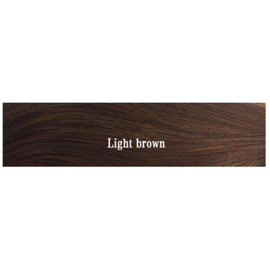 包括的有限カテナJIANFU ウィメンズ ウィッグ、エアー フラット 付き マイクロボリューム ストレート バックル ヘアー シンバス 耐熱 ウィッグ 長さ65cm (Color : Light brown)