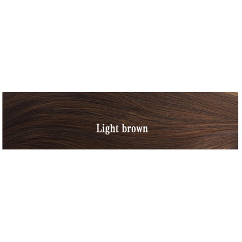 サーキュレーション連想接辞JIANFU 女性のためのナチュラルカラーウィッグショートボブ合成完全なヘアウィッグ耐熱短いショートストレートウィッグ35センチメートル (Color : Light brown)