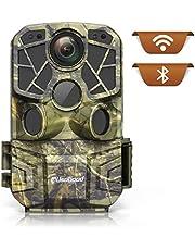 usogood Fototrappola 4K 24MP WiFi Bluetooth con App Fotocamera da Caccia Infrarossi Invisibili con Visione Notturna Trappola Fotografica per Monitorare Animali Selvatici, Fattorie, Sicurezza Domestica