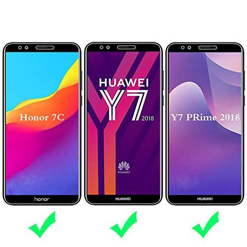 ANEWSIR Schutzfolie für Huawei Y7 2018/Y7 Prime 2018/Huawei Honor 7C, 9H Härte, Anti-Kratzen, Anti-Bläschen, Displayschutzfolie Folie Screen Protector [2 Stück] - 2