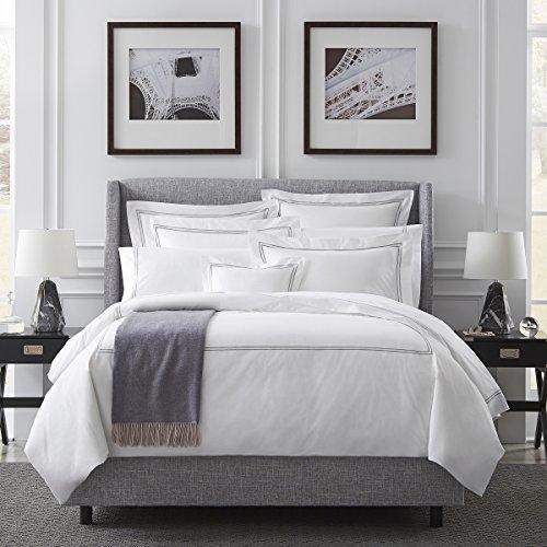 Sferra Grande Hotel Full/Queen Flat Sheet 96x114 (White/White)