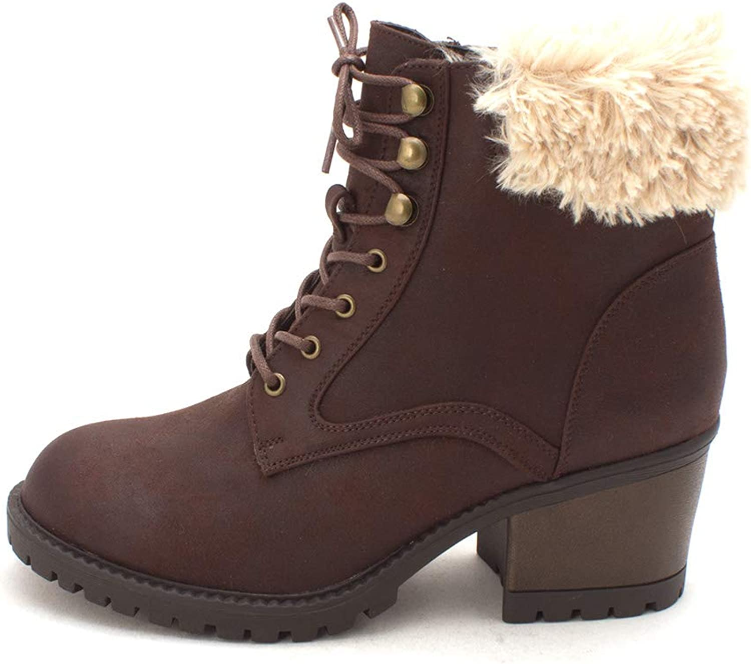 Cliffs by White Mountain Womens Tori Closed Toe Ankle, Brown Multi Dis, Size 8.0