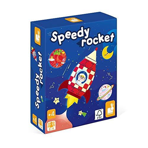 Janod- Speedy Rocket Mesa Infantil-Juego de Habilidad con Certificado FSC-A Partir de 4años (JURATOYS J02635)