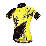Wosawe Cycling Jerseys Men Bicycle Biking Shirts Bike Clothing Yellow (Jerseys, XL)