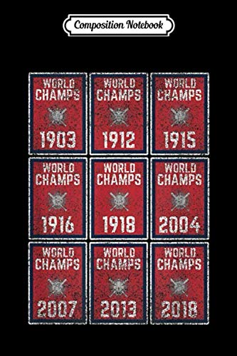 Composition Notebook: Boston Baseball Championship Banner Title Fenway Journal/Notebook Blank Lined Ruled 6x9 100 Pages